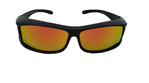 polarized gold mirrored rectangular fit over sunglasses