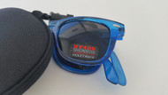 folding wayfarer style sunglasses/blue