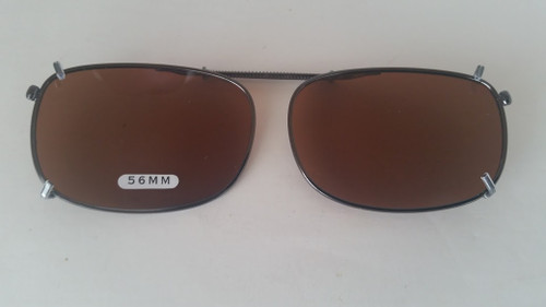 Medium Oblong 56MM Polarized Amber Clip-on