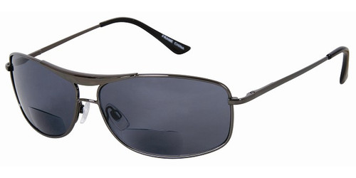 Alexander Bifocal Men's Sun Reading Glasses / Black-Gun