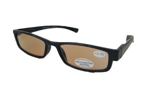 black plastic computer reading glasses