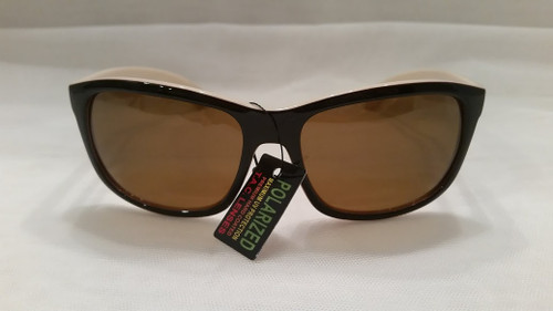 Polarized fashion women's sunglasses/ black/white