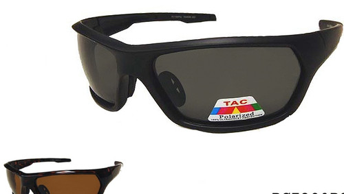 Polarized plastic wrap sports sunglasses