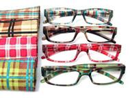 Mod Women's Plaid reading glasses