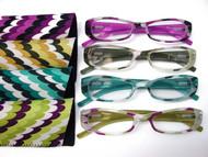 zoe multi color fashion women's reading glasses