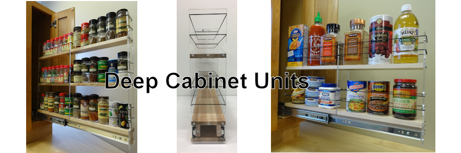 "Spice Racks for 24"" Deep Cabinets"