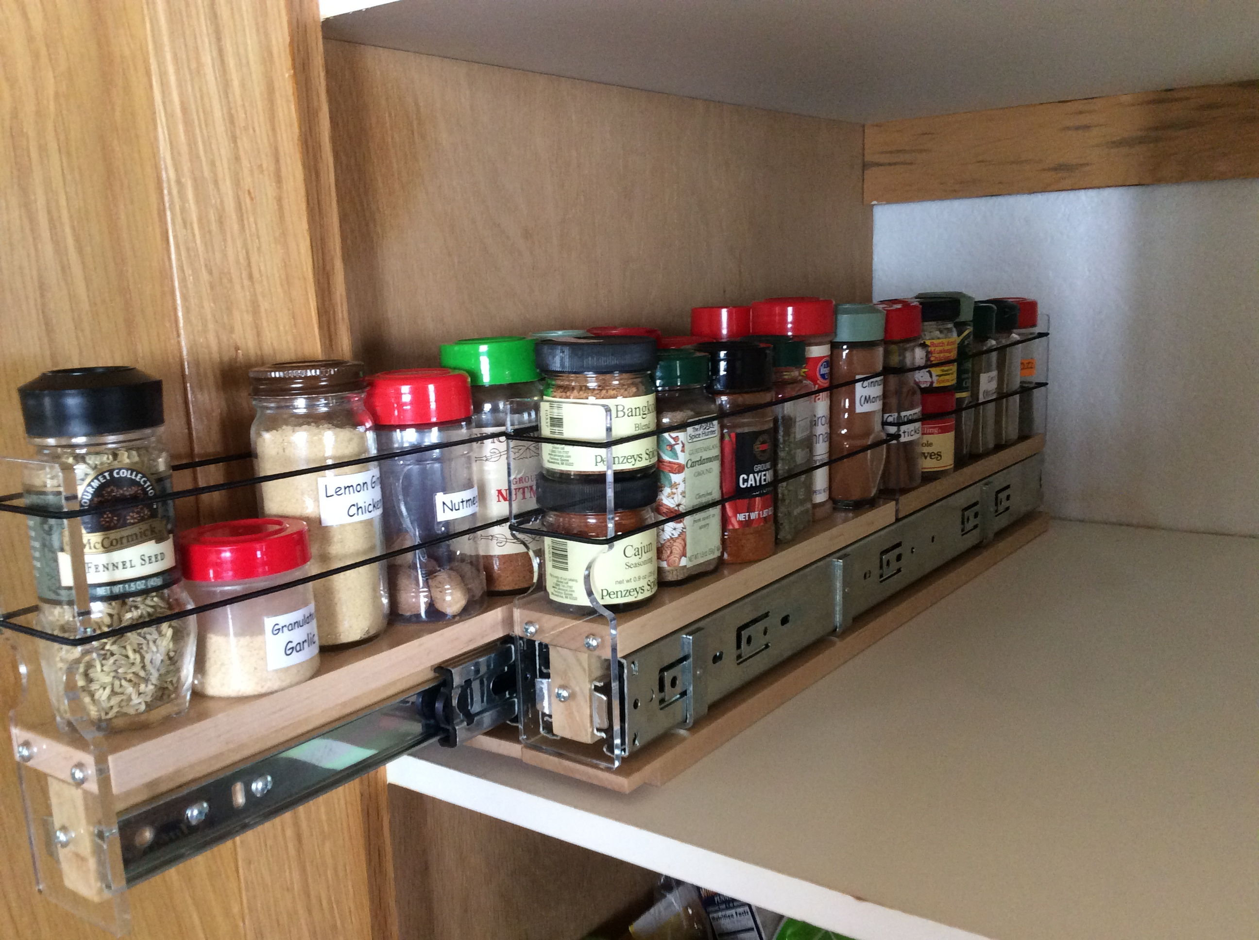 (2) 2x1x22 Spice Racks