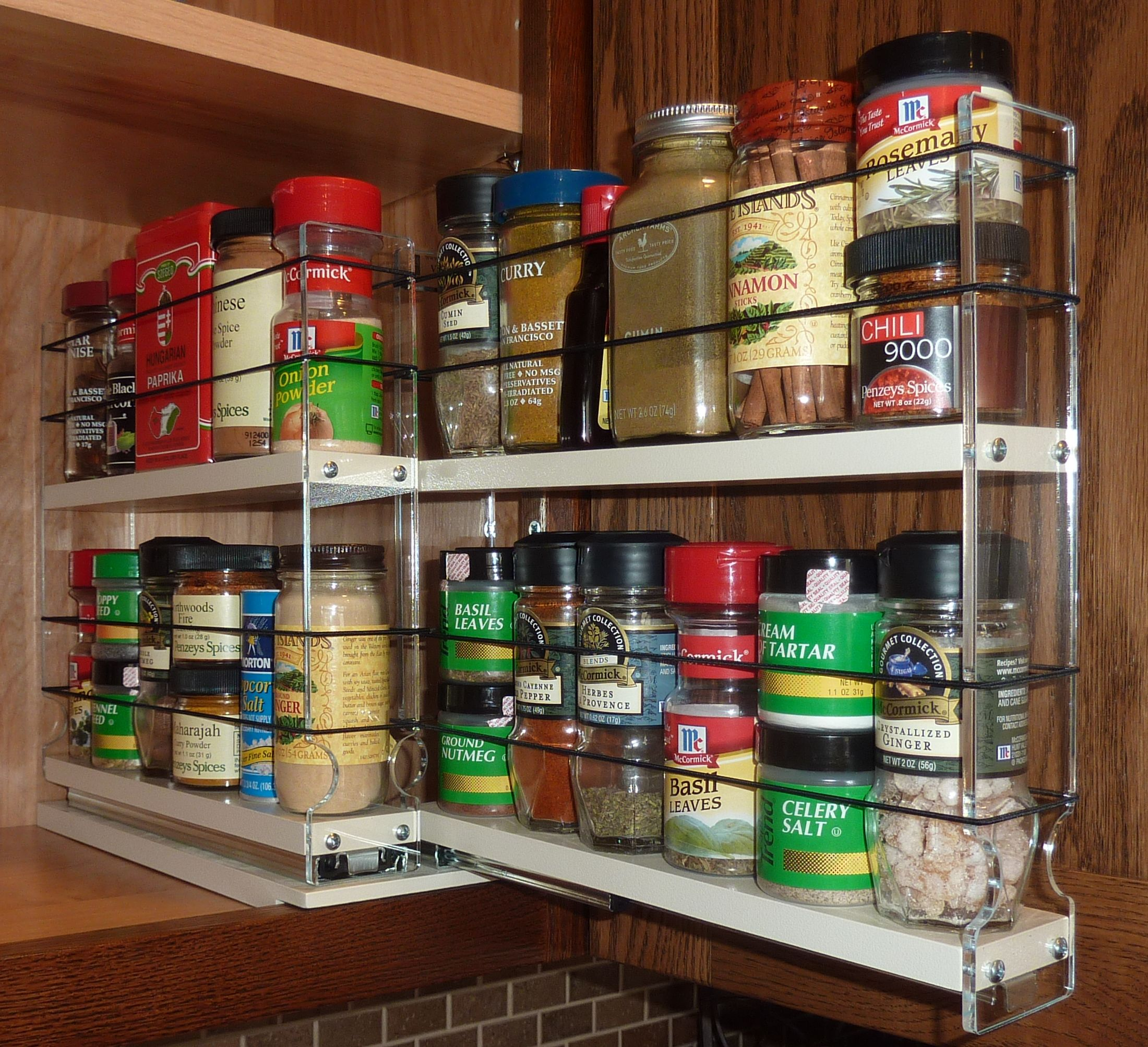Kitchen Cabinet Spice Racks: Cabinet Door Spice Racks