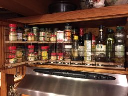 Cabinet Organization Over the Stove