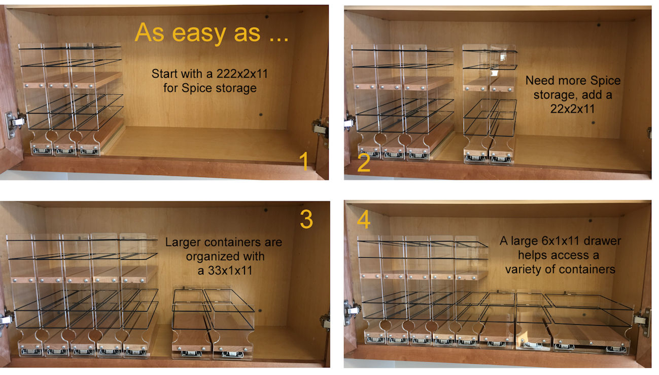 1-2-3-4 easy steps to maximize your cabinet space