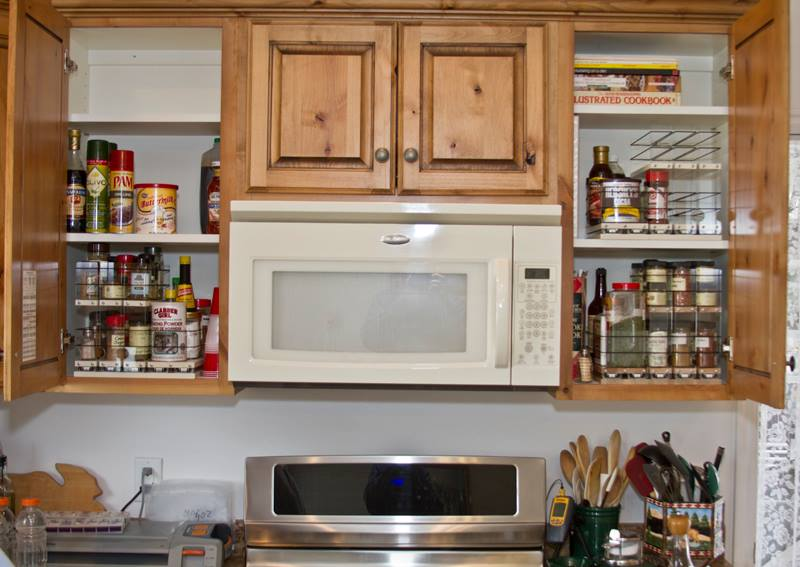 Cabinet Organization Spice Rack Drawers