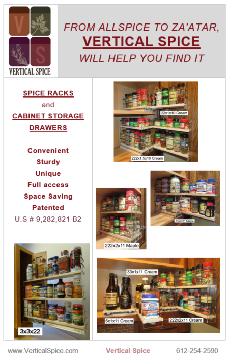 Vertical Spice Rack Catalog