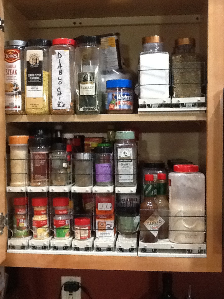 Cabinet Organized by Vertical Spice