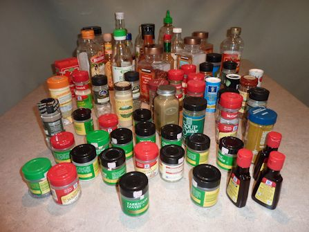 Original Containers For Spice Rack