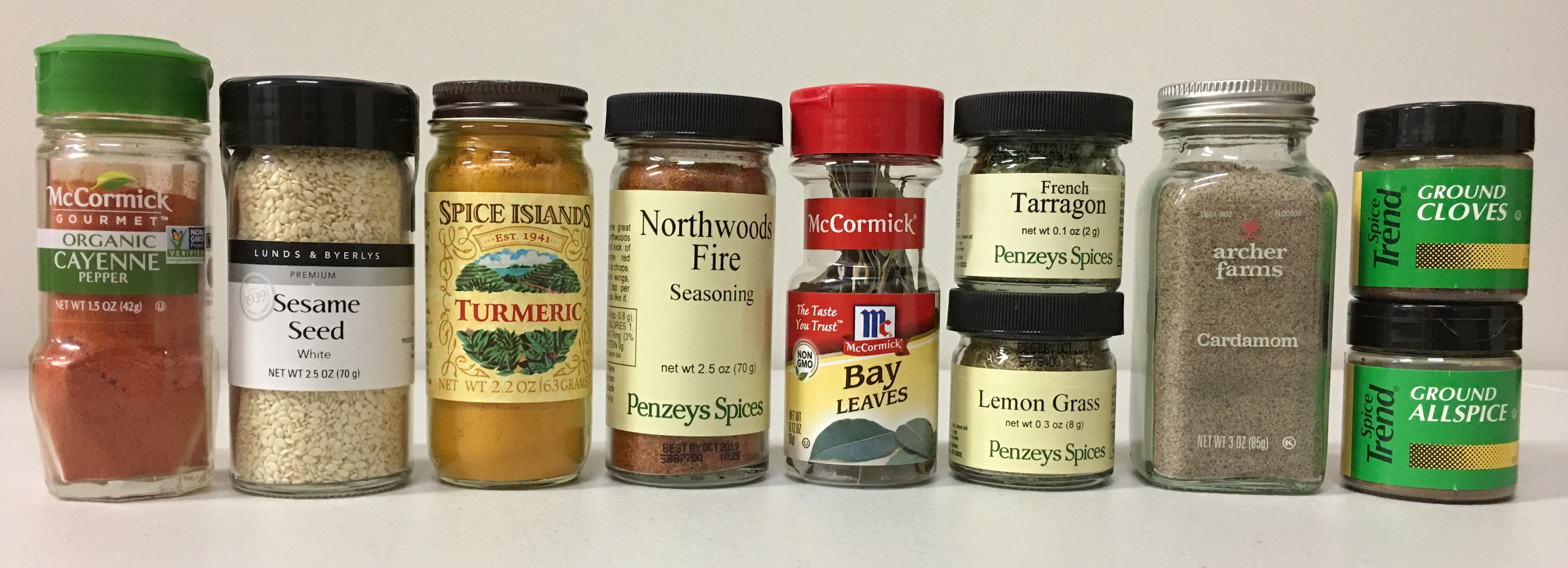 A Variety of Spice Jars