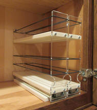 Spice Rack 22 x 1.5 x 11, Cream - Empty Drawers in