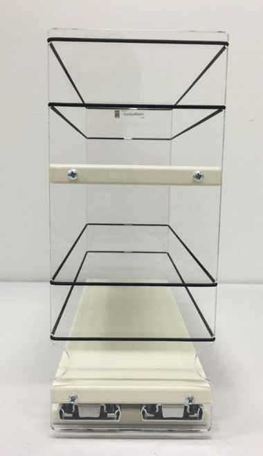 Spice Rack 4 x 2 x 11, Cream - Front View