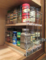 222x2x11 Spice Rack, Maple - Compact Spice Storage