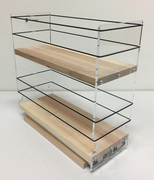 7 X 10 Storage Unit: Spice 4x2x11 Maple Spice Rack Storage Solution Drawer