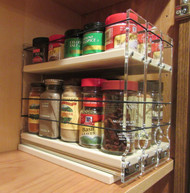 Spice Rack 222x1.5x11 Cream - Compact Cabinet Storage