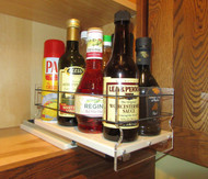6x1x11 Spice Rack, Cream Loaded Drawer Half-Out