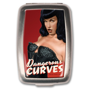Bettie Page Dangerous Curves Pill Box - 0641938654806