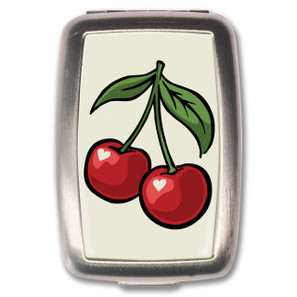 Cherry White Pill Box
