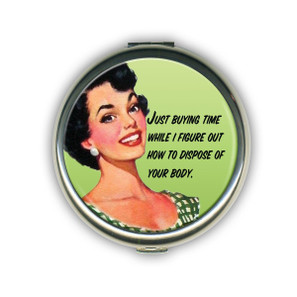 Just Buying Time Compact Mirror -