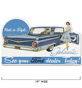 Ford Galaxie Metal Sign -
