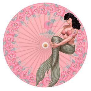 Bettie Page Mermaid Bettie Parasol* -