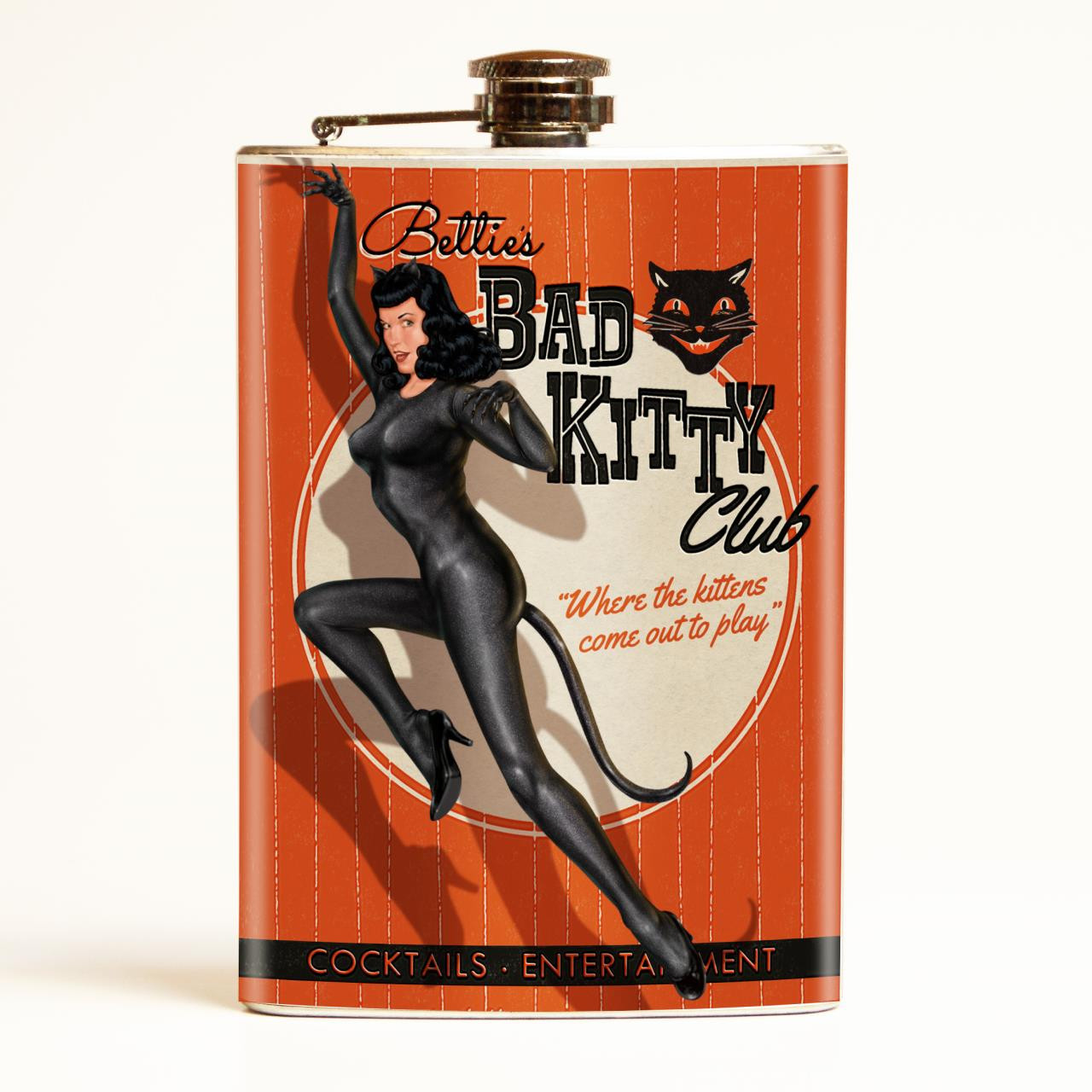Bettie Page Bad Kitty Flask-OUT OF STOCK -