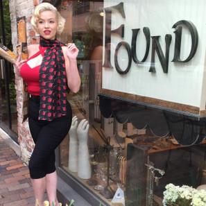 Rockabilly Cherries Fashion Scarf