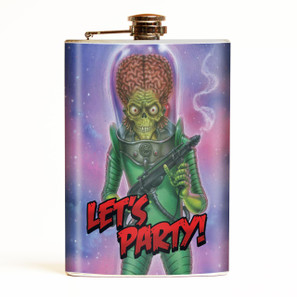 Mars Attacks Let's Party Flask* - OUT OF STOCK! -
