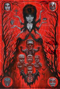 P'gosh Elvira: High Priestess Of Horror Print -