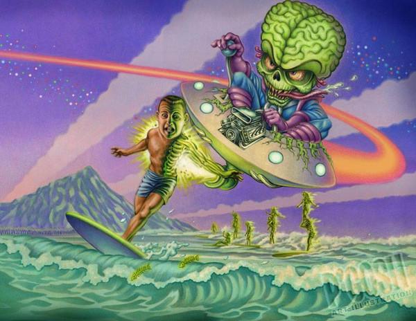 P'gosh Surfing Dead Print* - 0659682806747