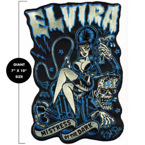 Elvira Mistress Of The Dark Large Back Patch - 0641938656367