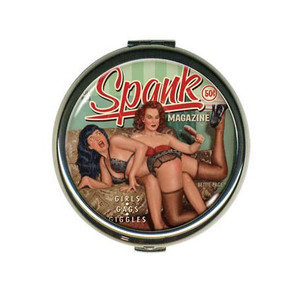 Bettie Page Spank Compact Mirror -