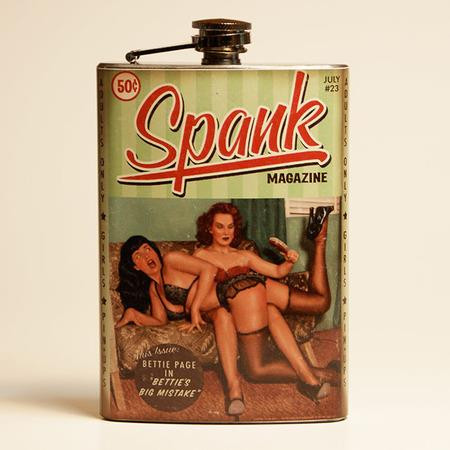 Bettie Page Spank Flask-OUT OF STOCK - 0641938655100