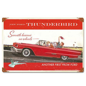 Ford 1958 Thunderbird Metal Sign -