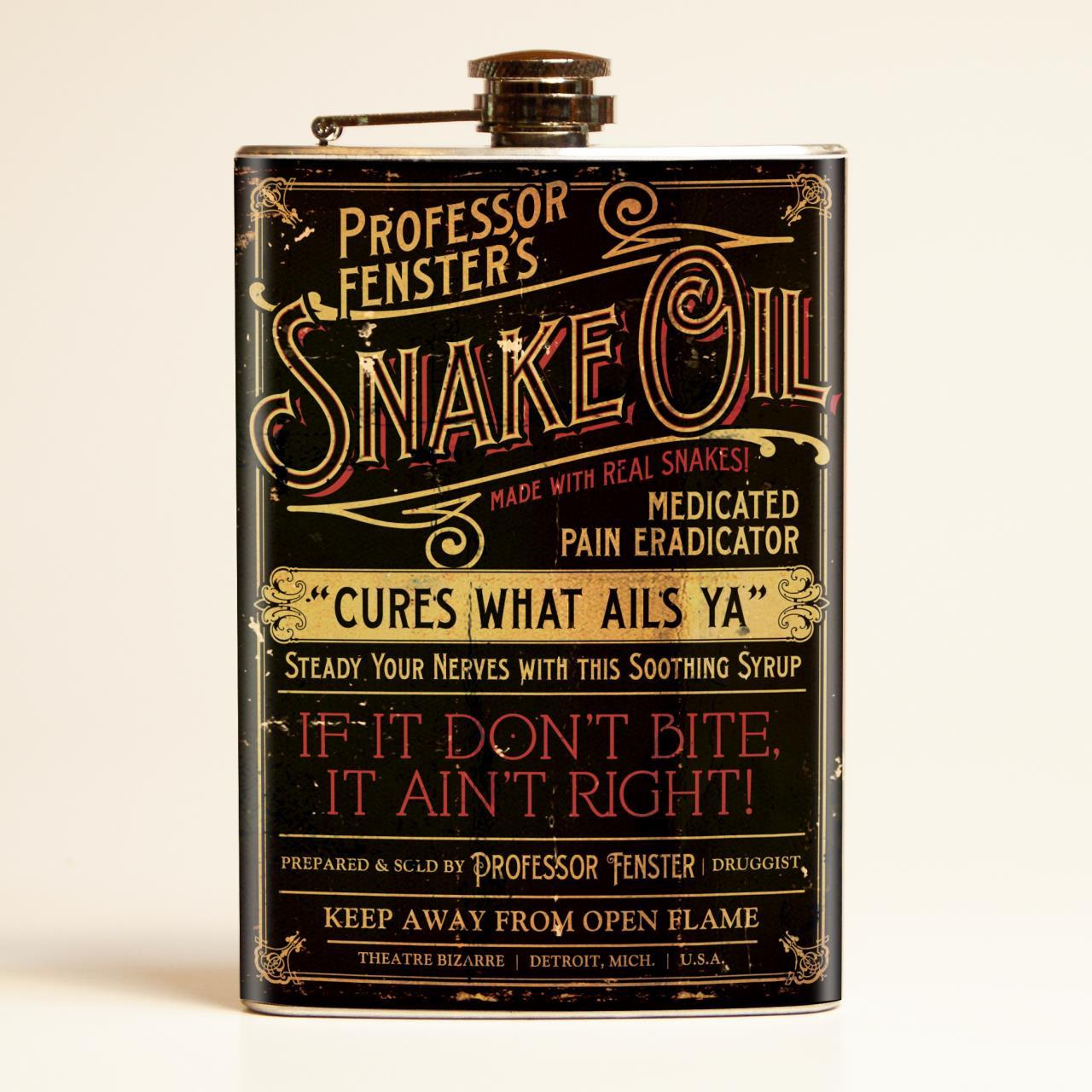 Snake Oil Flask | Retr...