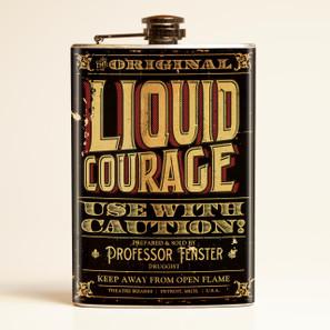 Theatre Bizarre Liquid Courage Flask