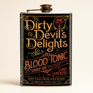 Theatre Bizarre Dirty Devil Delight Flask-OUT OF STOCK -