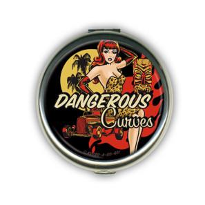 Dangerous Curves Tiki Compact Mirror