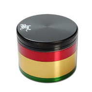 Black Leaf Rasta Aluminium Grinder 62mm