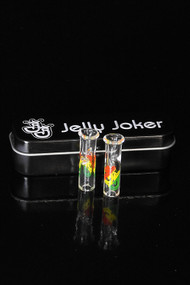 Jelly Joker Glass Tips 2 Pack Rasta - Round