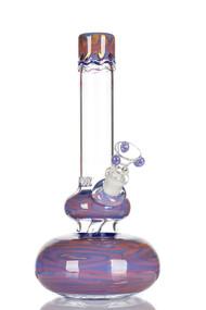 HVY Worked Bubble Beaker - Purple
