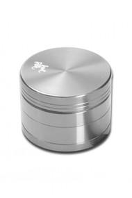 Black Leaf Aluminium Grinder 50mm - 4 part Silver