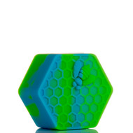 Beehive Silicone Container - Blue and Green