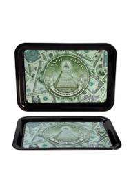 Black Leaf Mini Rolling Tray 'Dollar
