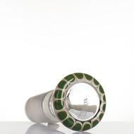 Zenit Glass Cone 18.8mm Rasta Dark Green - detail